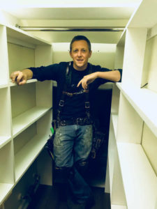 the honest carpenter in built in closet