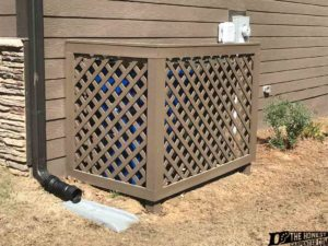 painted treated wood lattice fence