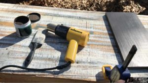 heat gun for painting treated wood