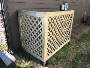 finished treated trim lattice trash screen hideaway