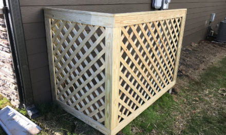 HOW TO BUILD A LATTICE SCREEN