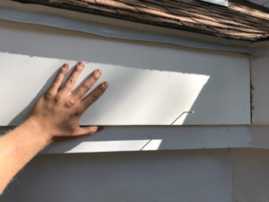 set new fascia board with nail