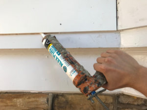 caulk new fascia board