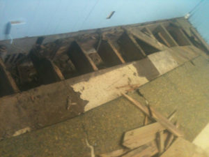 excavated floor needs joists jack up and secured