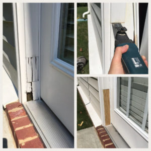 rotted door jamb repair with multi-oscillating tool