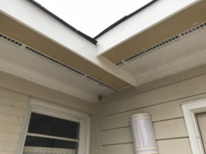 fascia repair and hardie plank soffit repair