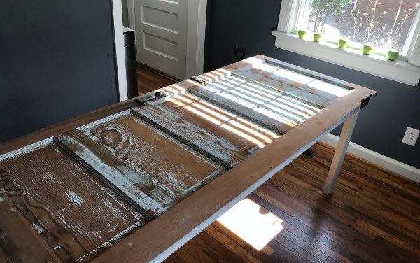 UPCYCLE A RECLAIMED DOOR INTO A NEW TABLE