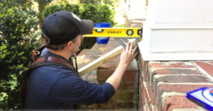 using a stanley two foot level and speed square to find stair pitch angle