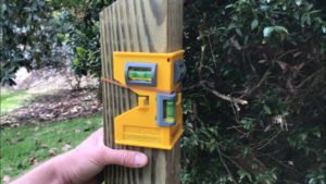 use post level to make railing post plumb