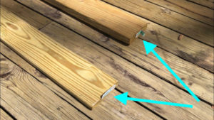 check treated deck boards for thickness