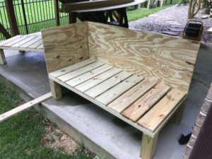 attach plywood walls to all four sides of planter boxes