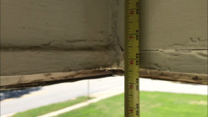 Measure for new wood porch column