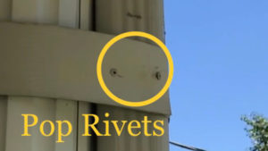 pop rivets are used to pin together thin pieces of metal such as gutters