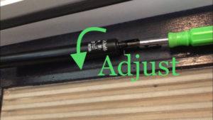 Adjust door closing rate by turning valve screw