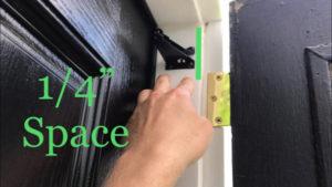 """mount door closer jamb bracket with 1/4"""" space"""