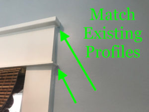 Match existing trim profiles in house or room