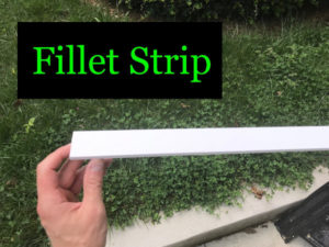 Fillet strip can be found with other trim at lumber yards