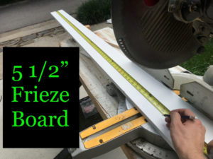 "5-/2"" frieze board doesn't need to be ripped to width."