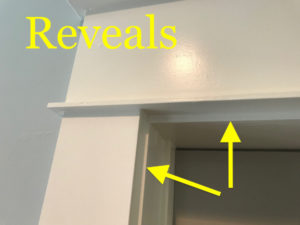 reveals in craftsman door