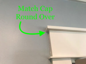Match cap round over on existing trim profiles