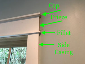 Craftsman window upper components.