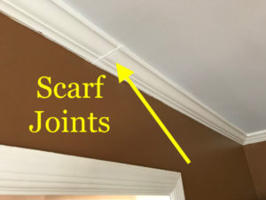 scarf joint in crown seam