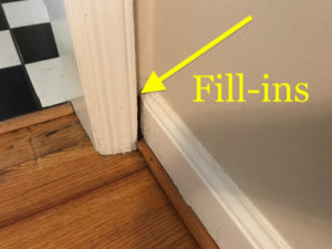 small trim fill in in living room