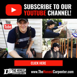 the honest carpenter advertisement subscribe to our youtube channel click here