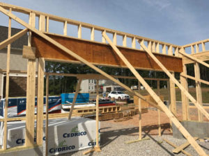 framing garage header laminate beam