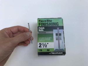 galvanized finish nail