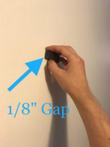 "1/8"" magnet gap on wall stud test"