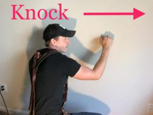 knock on wall stud test