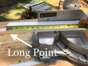 measure pvc brickmould replacement piece from long point