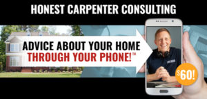 the honest carpenter sales banner desktop advice about your home through your phone sixty dollars