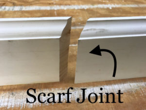 scarf joint trim base board